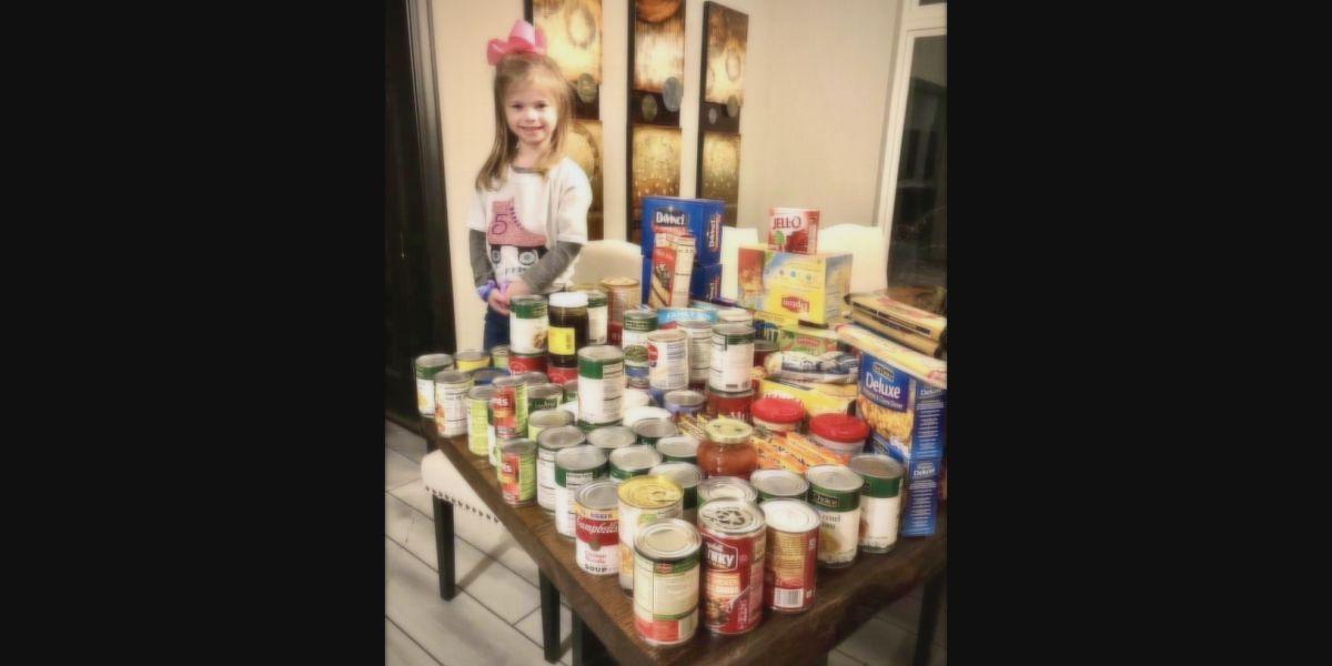 Gr8 Job! Girl donates non-perishable food items to Blessing Box