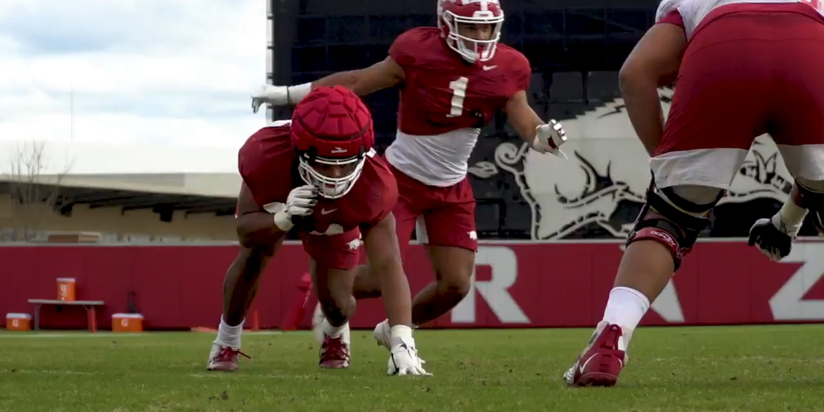 Pittman likes Jashaud Stewart's progress in Arkansas spring practice