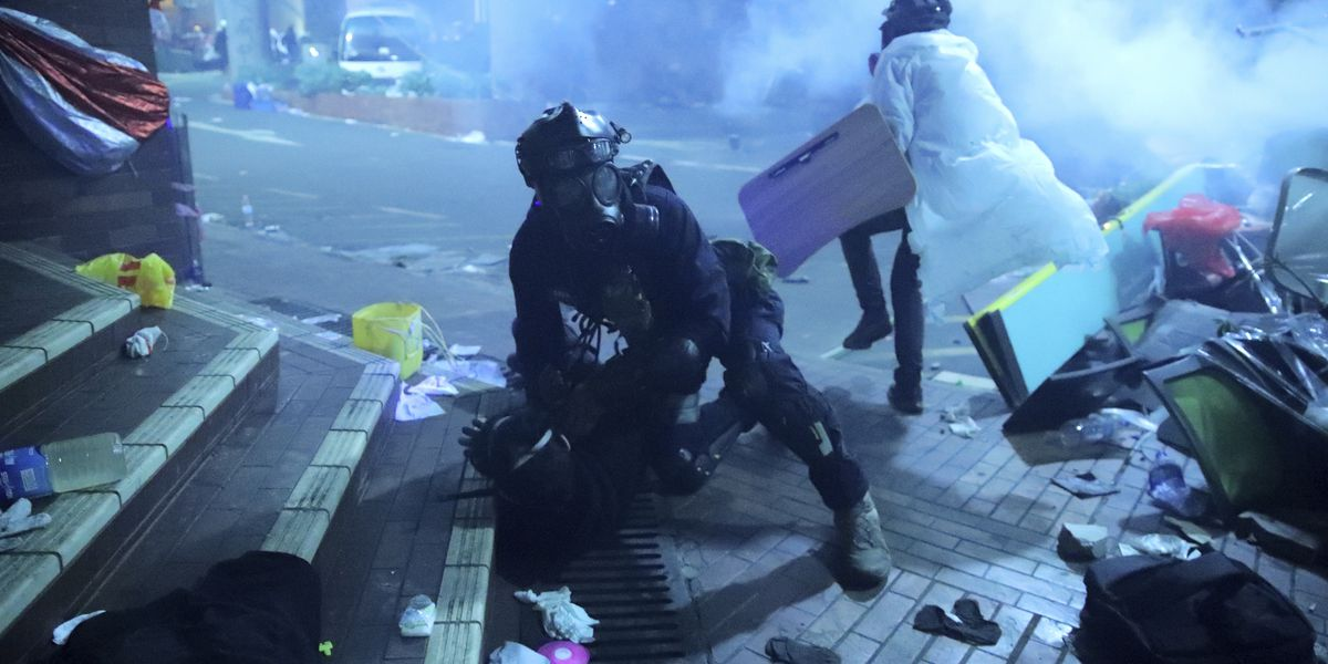 Hong Kong police enter campus held by protesters