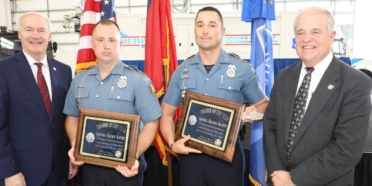 Gr8 Job: Local troopers honored with Trooper of the Year award