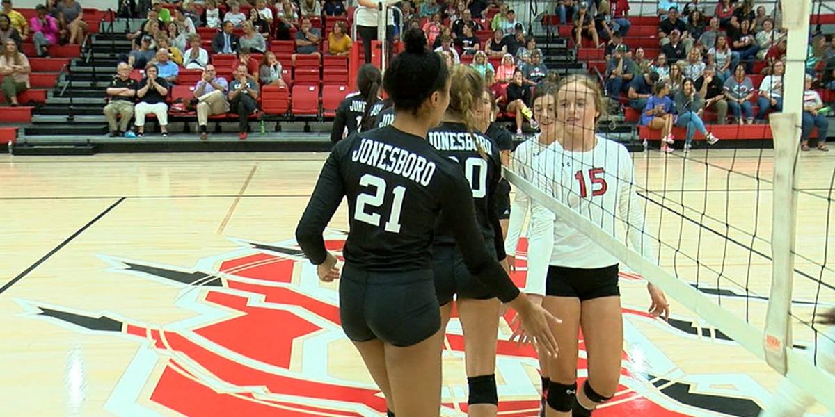 Jonesboro sweeps Brookland in volleyball season opener