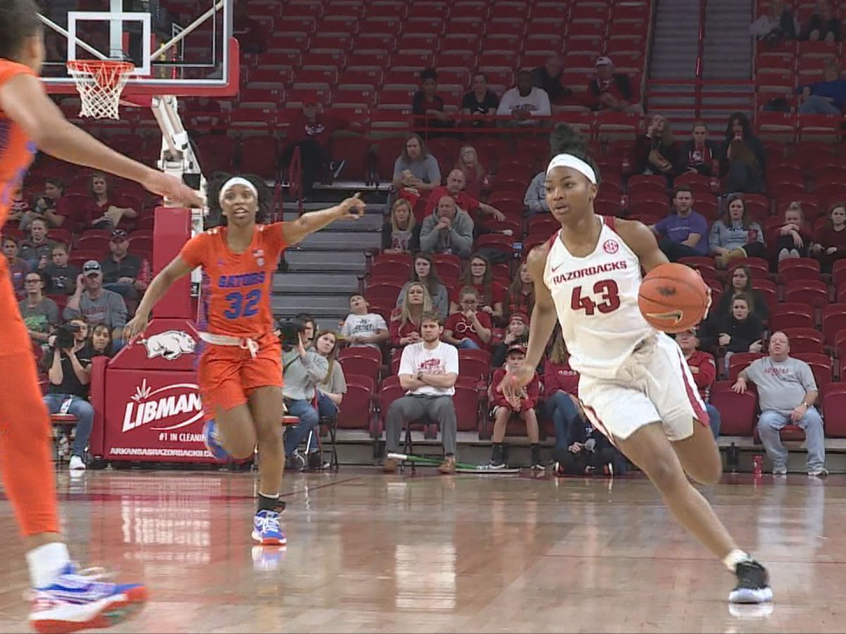 Arkansas women defeat Florida 79-57 for 16th win