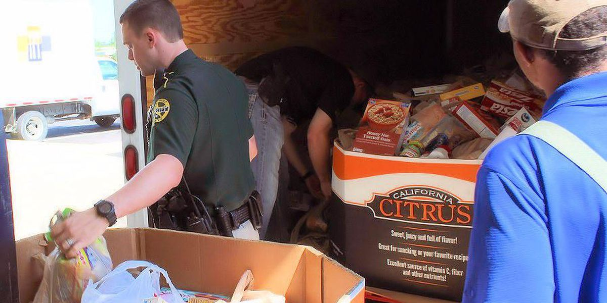 Sheriff's office collects food, money for area kids
