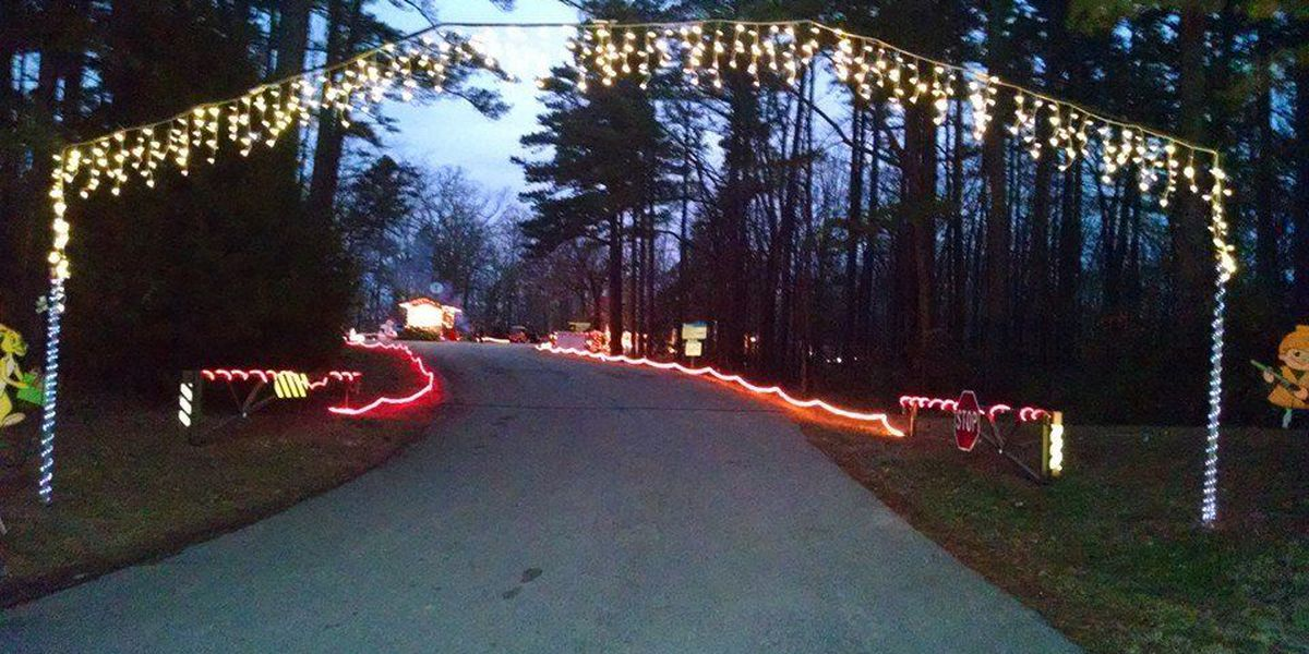 Festival of Lights Auto Tour going up at Wappapello Lake