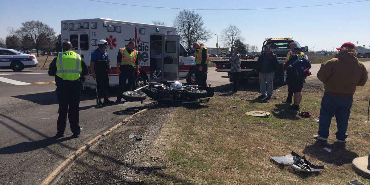 1 airlifted after crash involving motorcycle