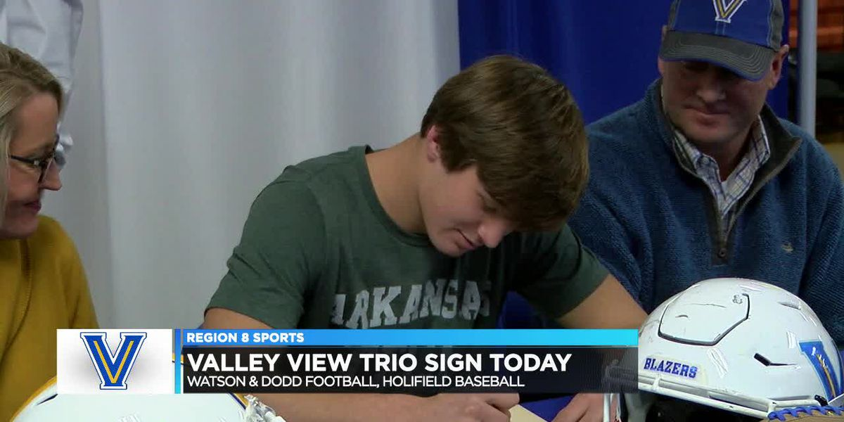 Valley View trio signs Wednesday (Connor Watson, Riley Dodd, Layton Holifield)
