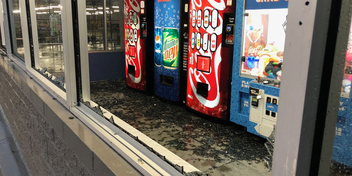 VIDEO: Windows blown out at South MS Walmart as storms pass through