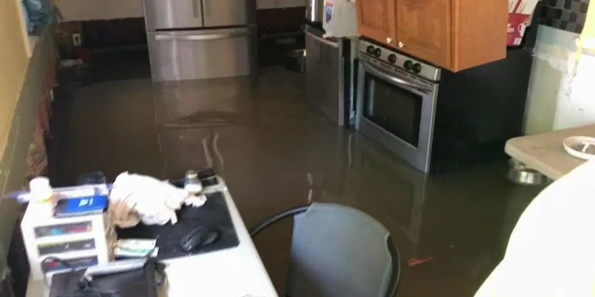 Missouri man's home is flooded, but he's still living in it