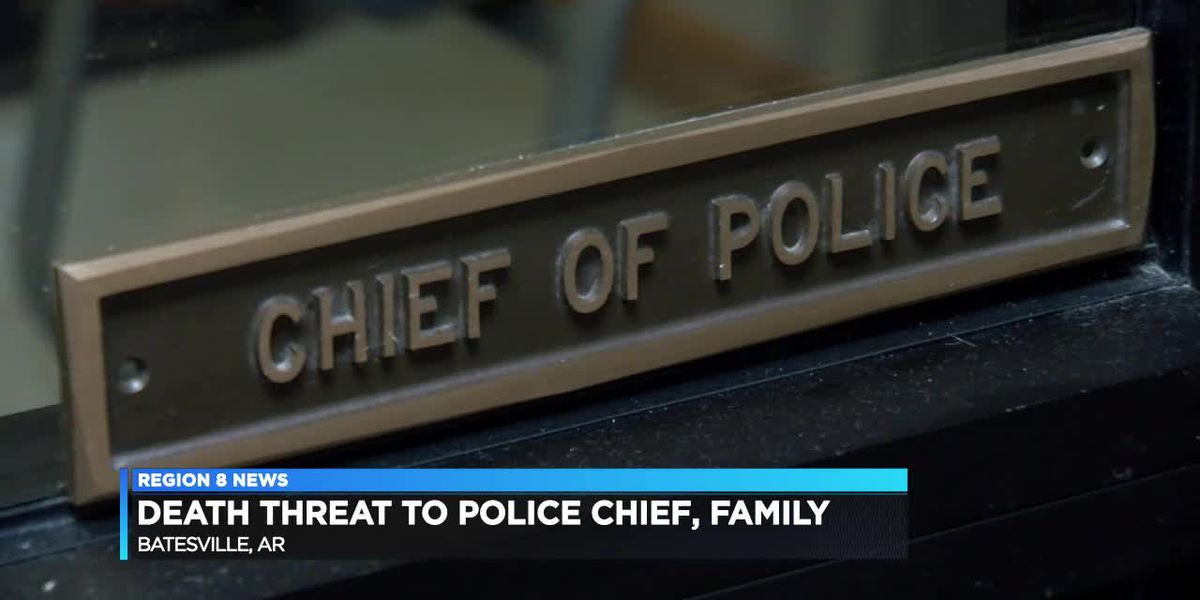 Death threat to police chief and family