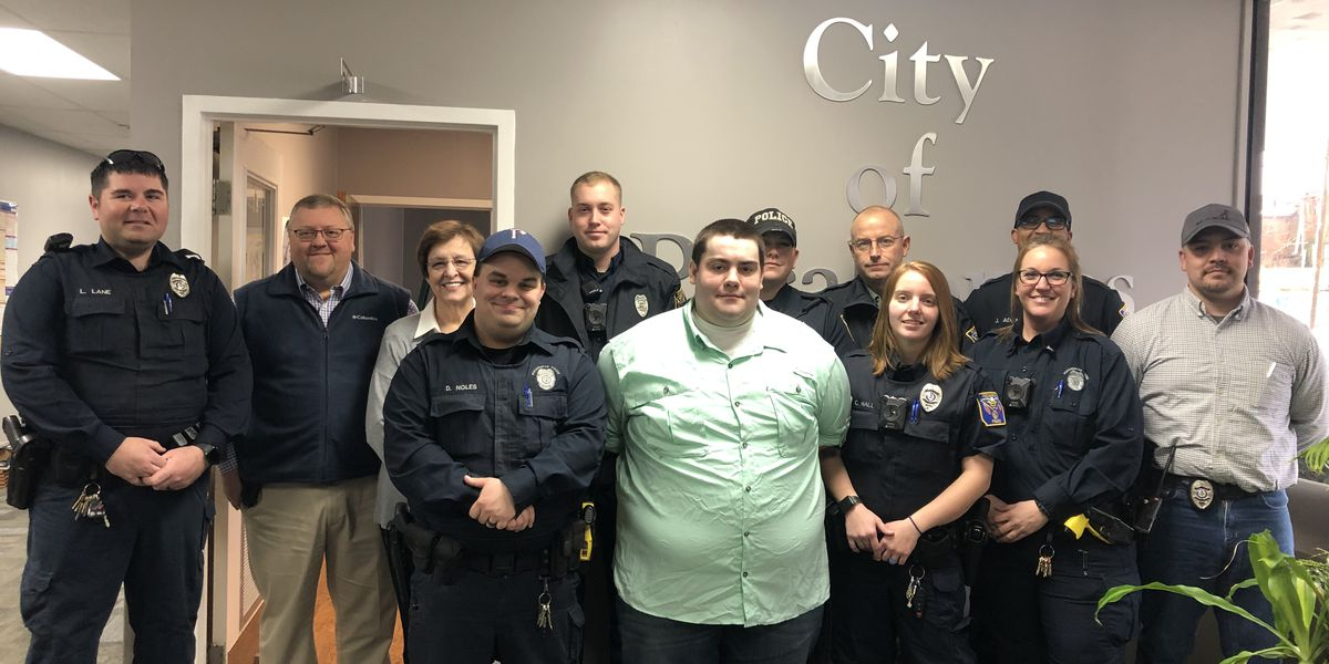Local police helps fellow officer after stroke
