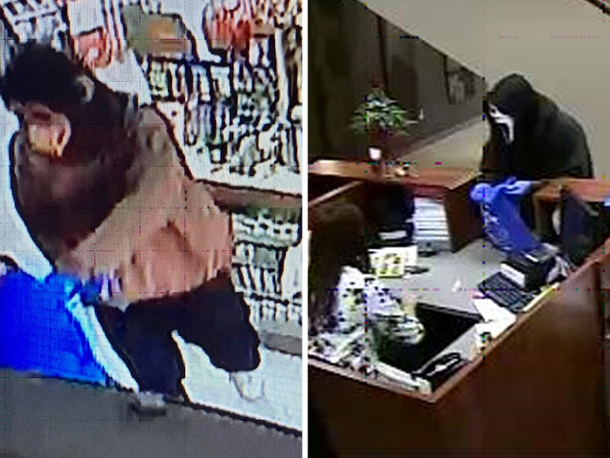 Suspects wear 'Scream', gorilla masks during robberies in Helena-West Helena