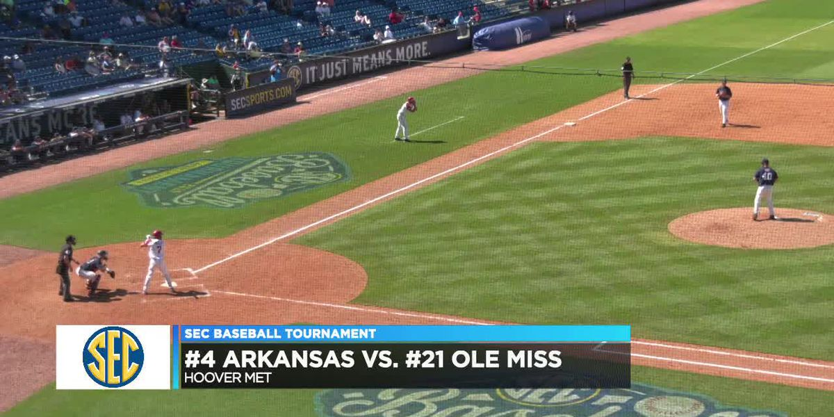 #4 Arkansas defeats #21 Ole Miss at SEC Baseball Tournament