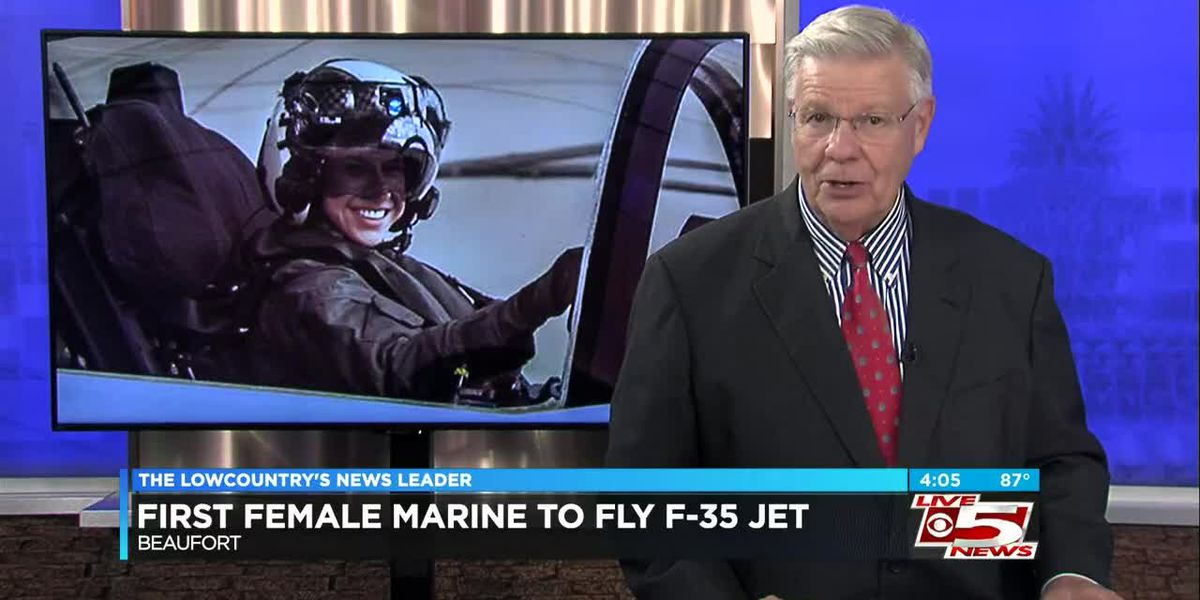 VIDEO: Helicopter pilot becomes 1st female Marine to pilot F-35 jet