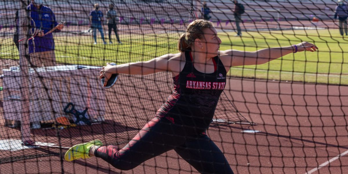 A-State senior Babette Vandeput named SBC Women's Field Athlete of the Week