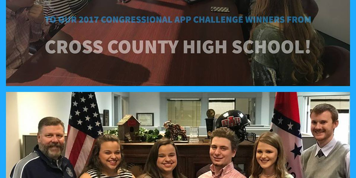 Cross County students receive Congressional App award
