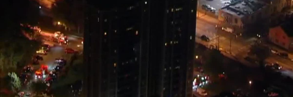 Residents react to high-rise fire in Pa. (Bleeped profanity)