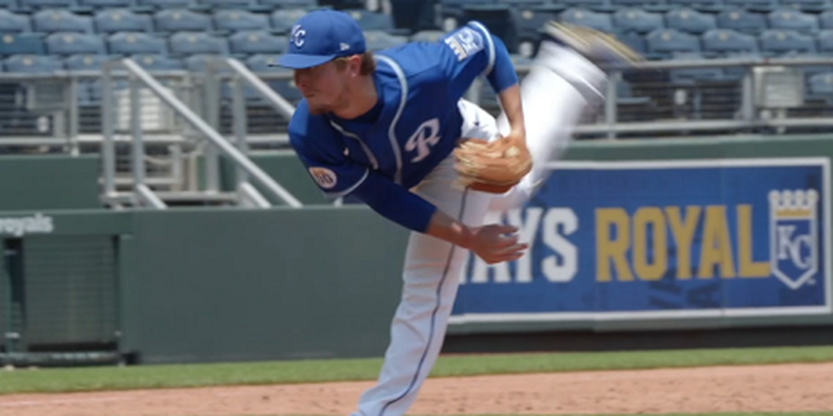 Tyler Zuber battling for a bullpen spot at Royals Summer Camp