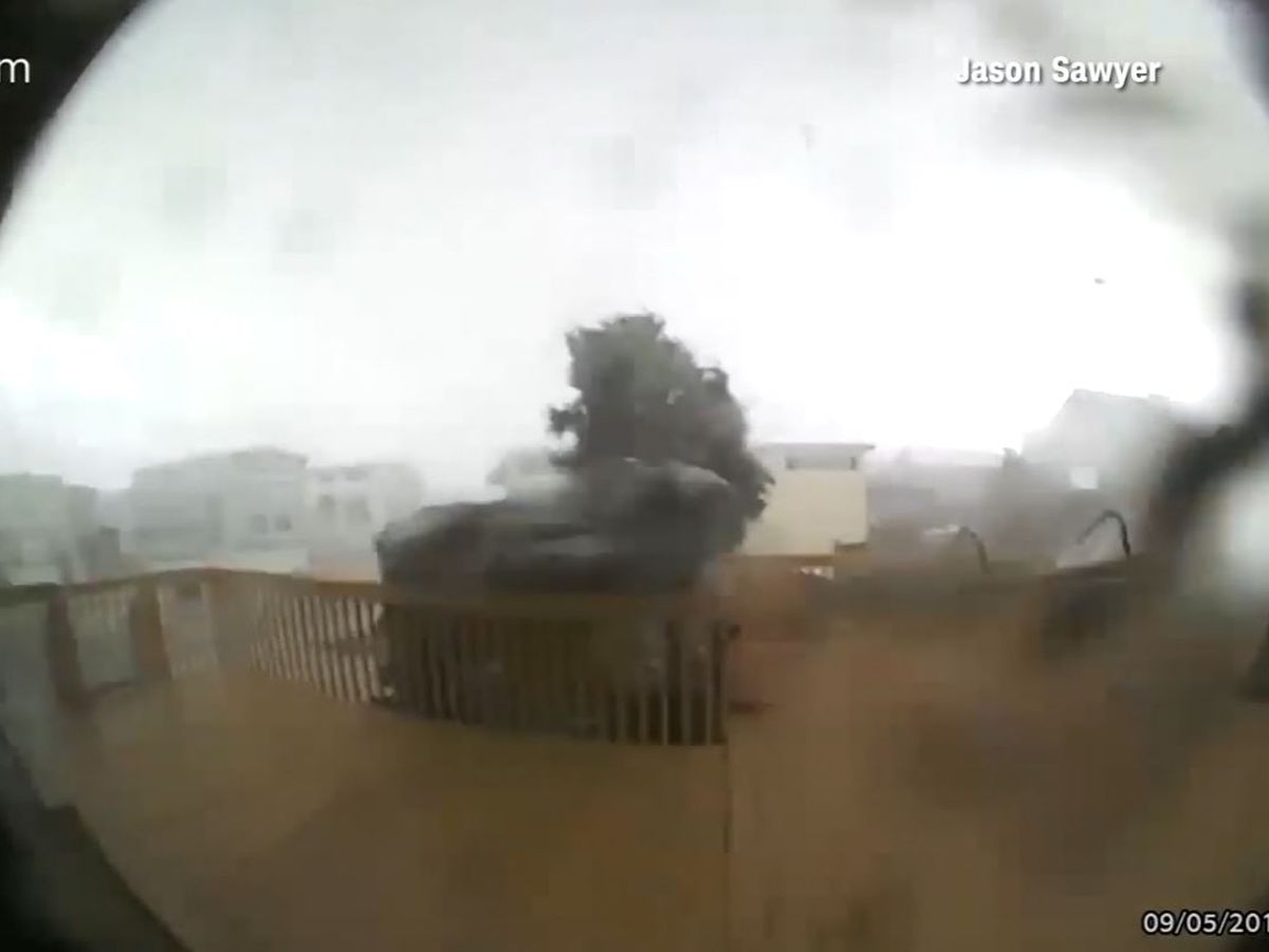 Watch: Doorbell camera catches tornado spawned by Dorian destroying house