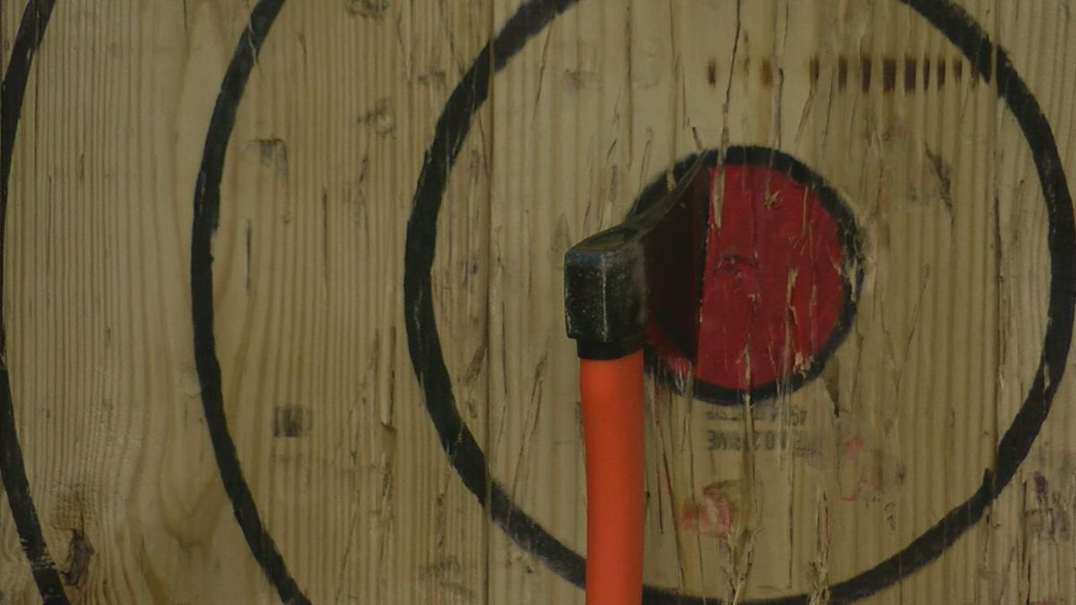 Axe-throwing craze makes its way to Region 8