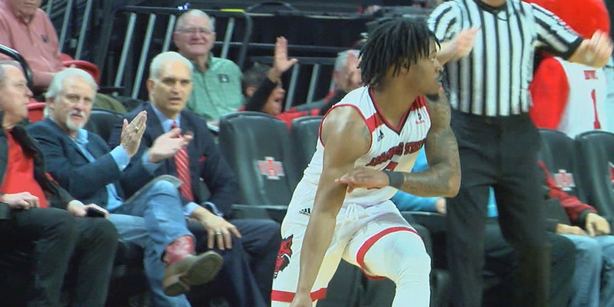 Arkansas State guard Ty Cockfield participating in Professional Basketball Combine