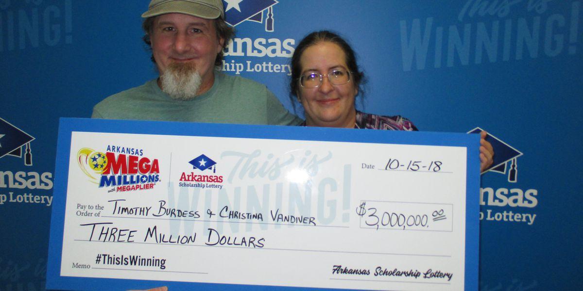 Arkansas woman wins $3 million in Mega Millions drawing