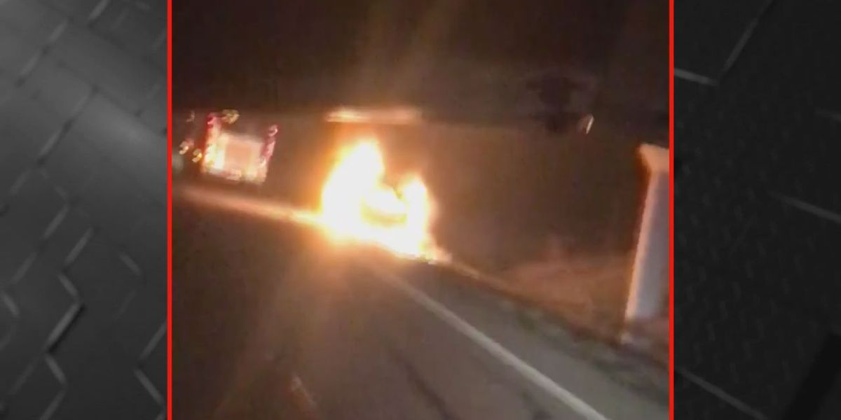 Fire dept. releases video of vehicle fire