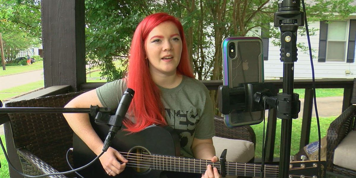 Local musician raises money from her porch for tornado victims
