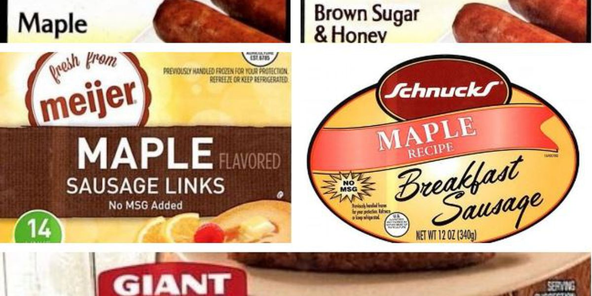 Pork sausage link products recalled due to possible foreign