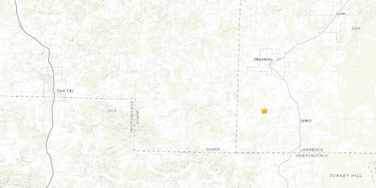 2.3M quake reported in Lawrence County