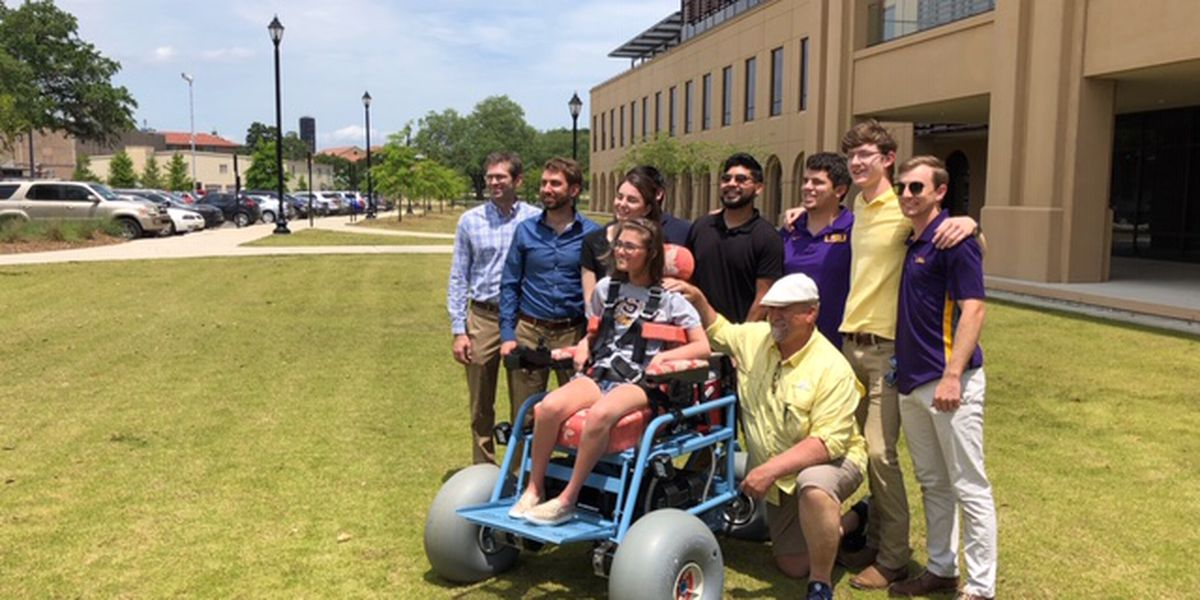 LSU engineering students make beach-friendly wheelchair so family can continue tradition