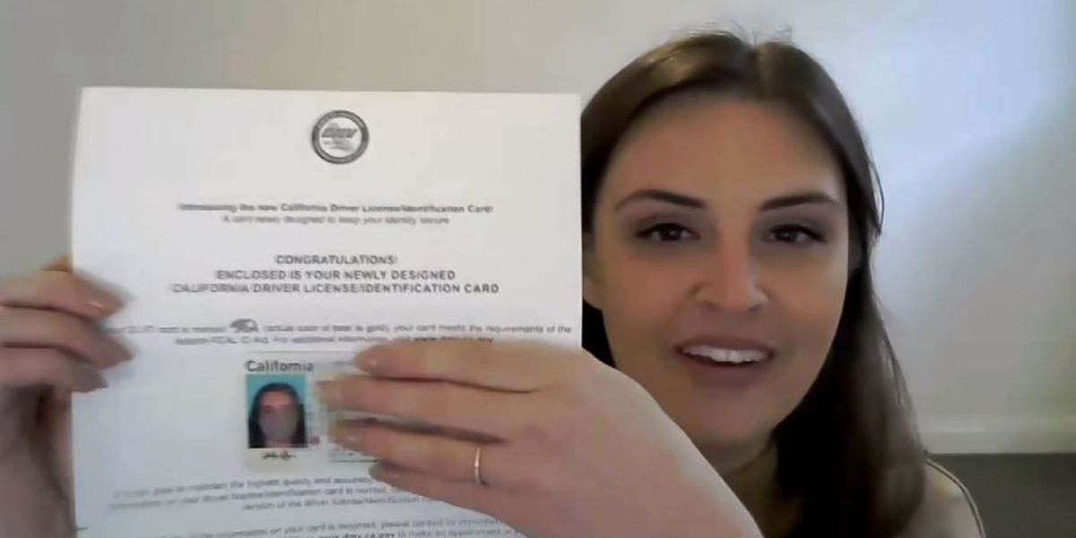 Calif. woman issued license with photo of her wearing face mask