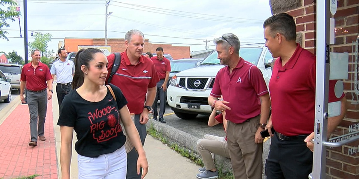 ONE Razorback Roadshow stopped in Paragould Tuesday