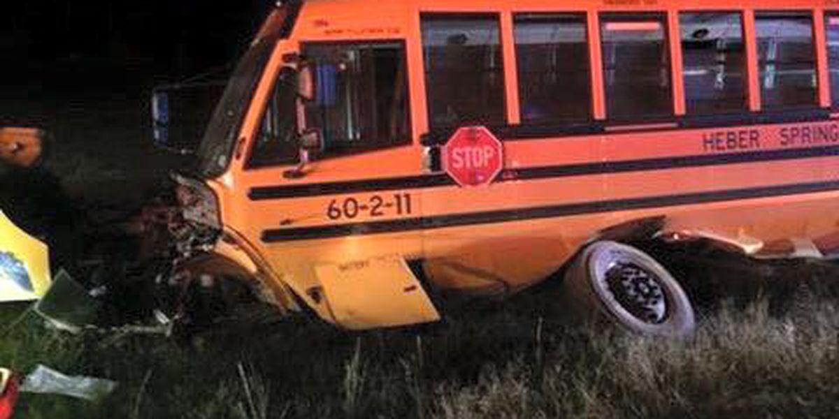 Eight students injured in Heber Springs bus crash