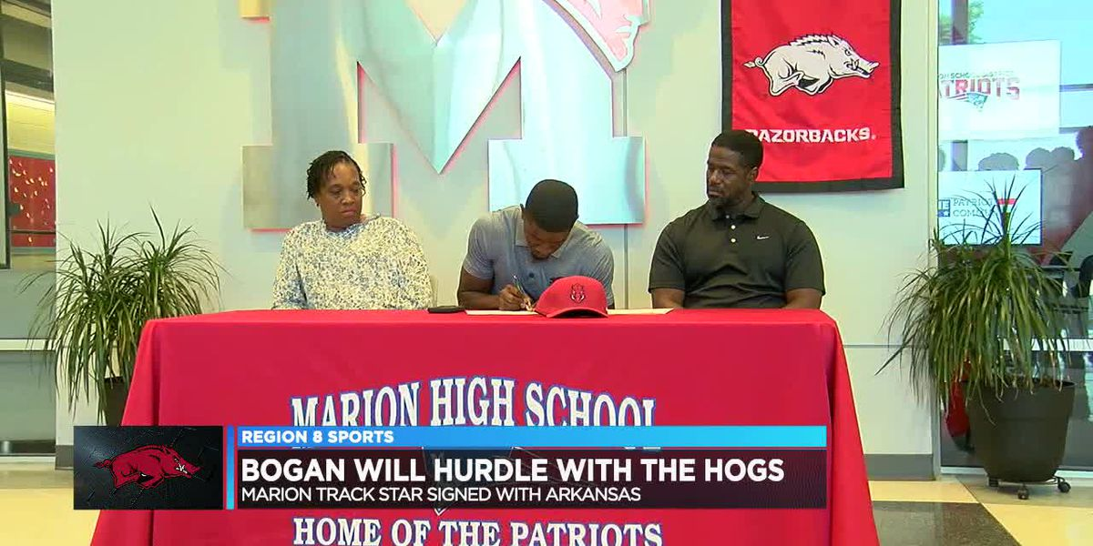Marion track star Shaka Bogan signs with Arkansas