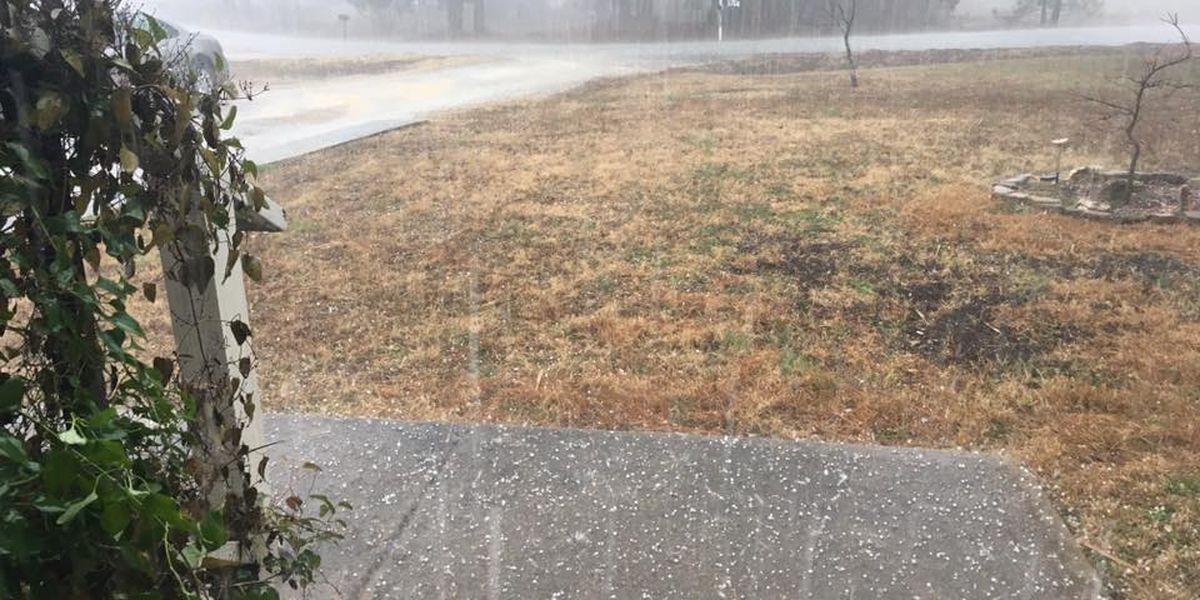 Hail reported as storms move through the area