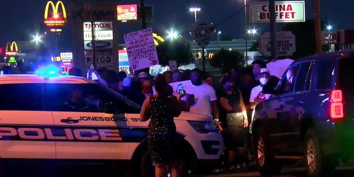 June 1: Protesters take to the streets of Jonesboro