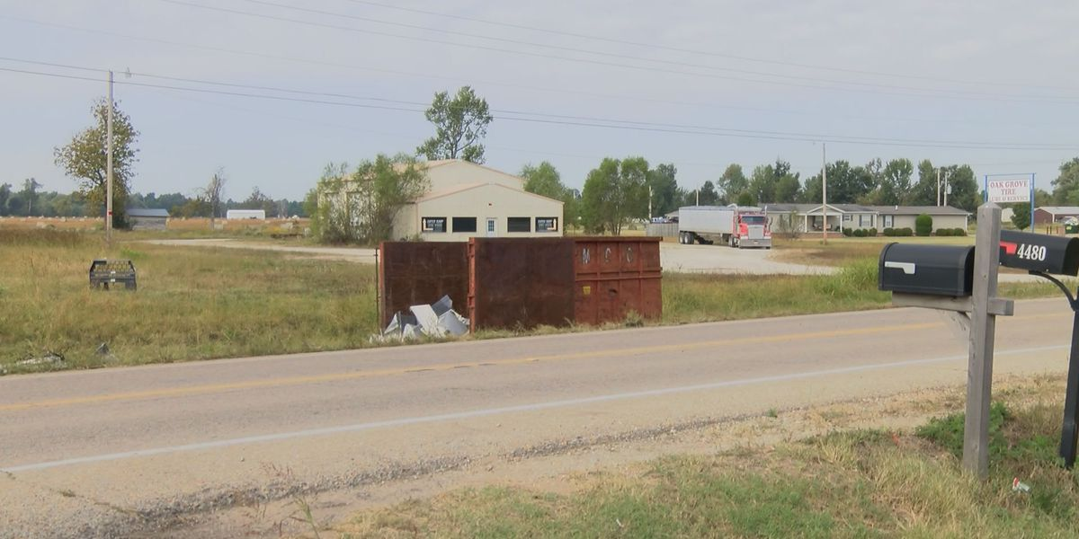 Dump truck spills over in Oak Grove Heights