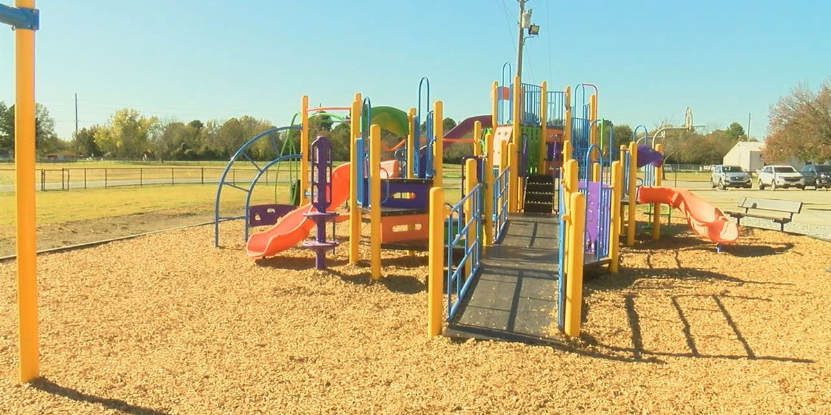 Ribbon cutting held for school playground designed by students