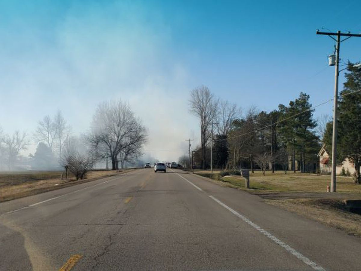 Mississippi County house fire slows motorists