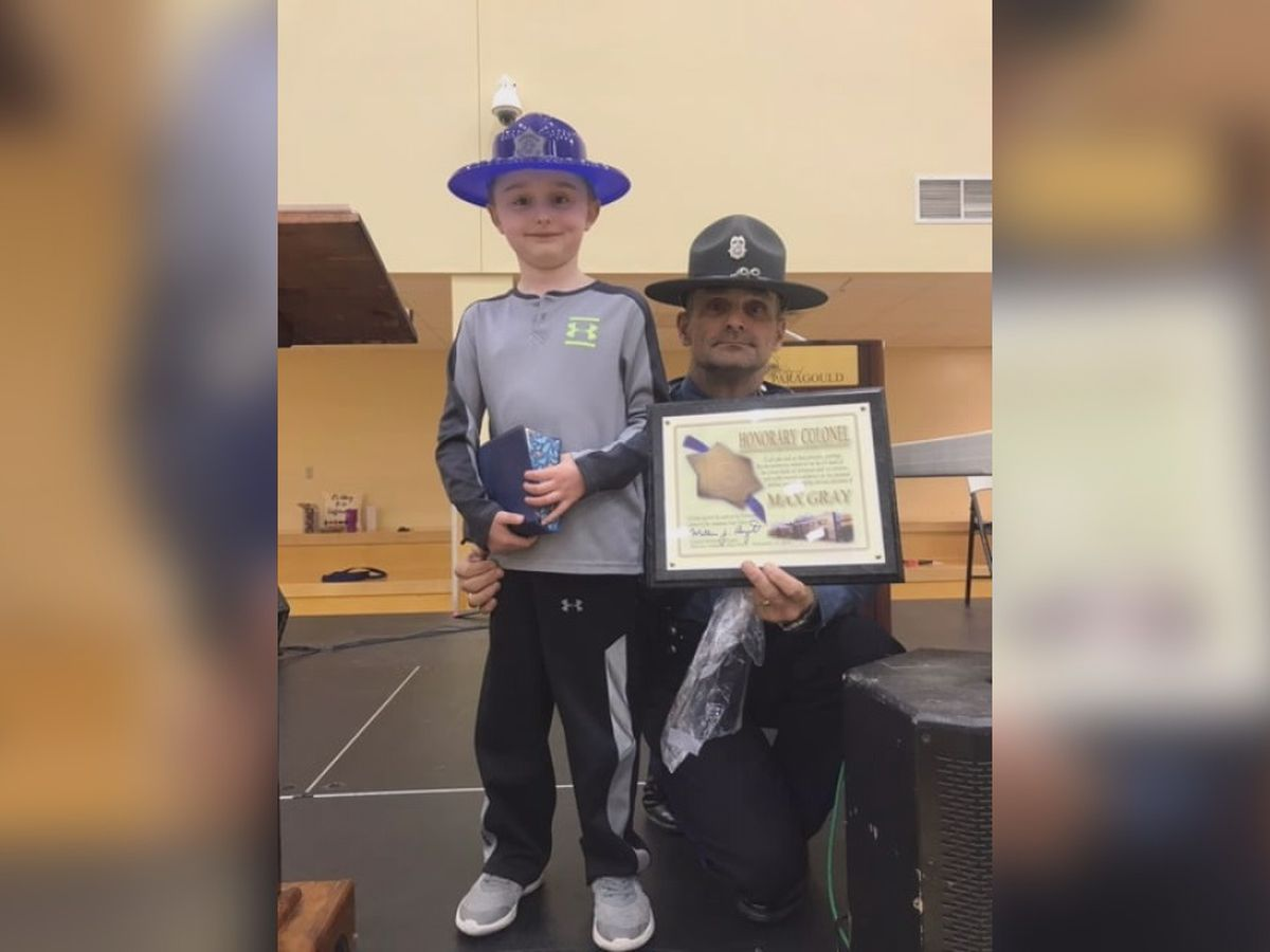 Greene County 1st grader becomes honorary ASP Colonel