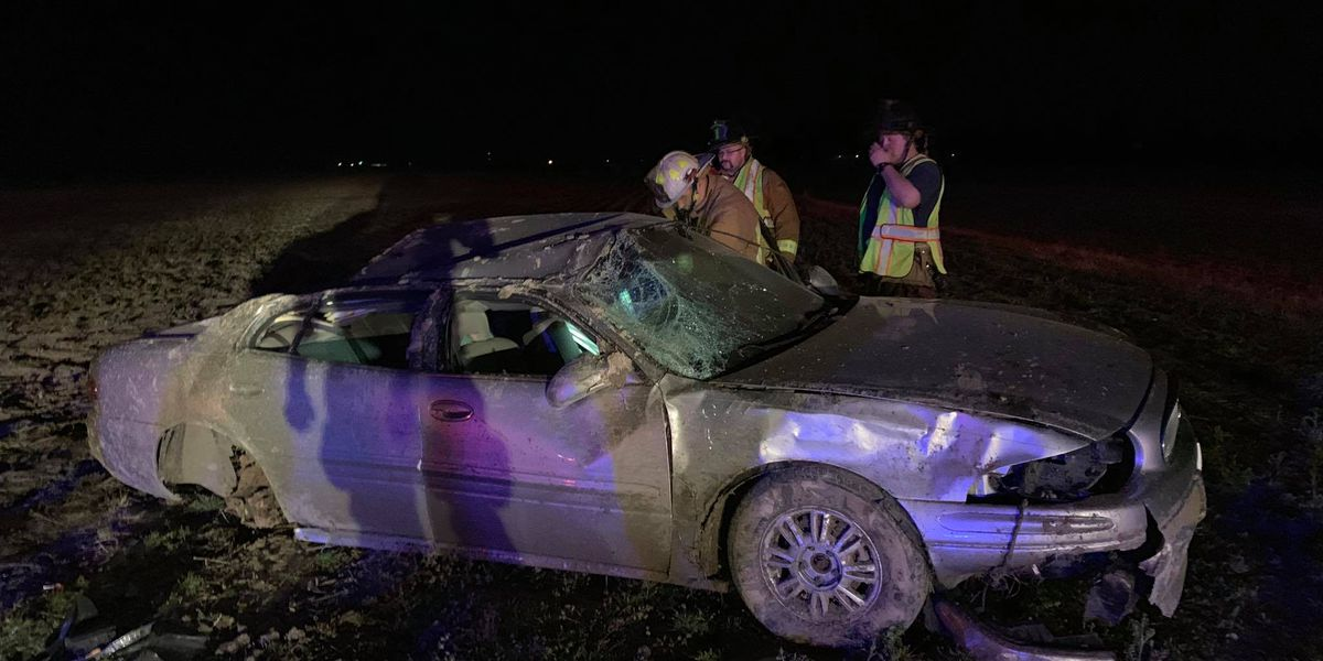 Driver unharmed in rollover crash