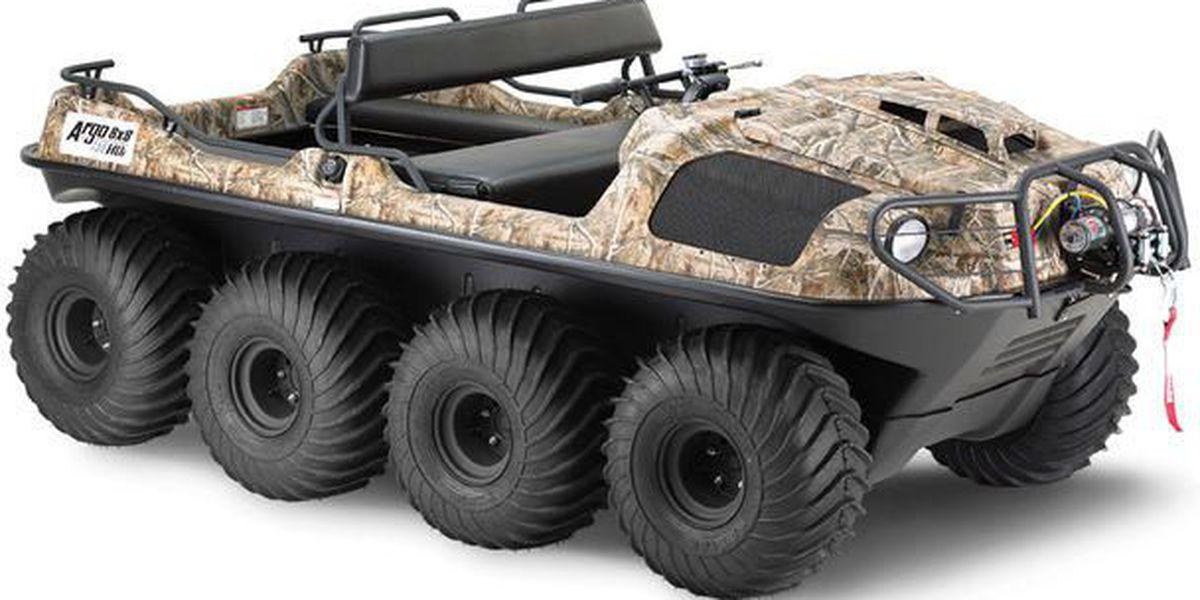 Reward offered in case of stolen 8-wheeled ATV, guns