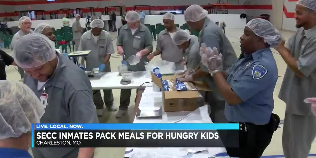 SECC inmates pack meals for hungry kids