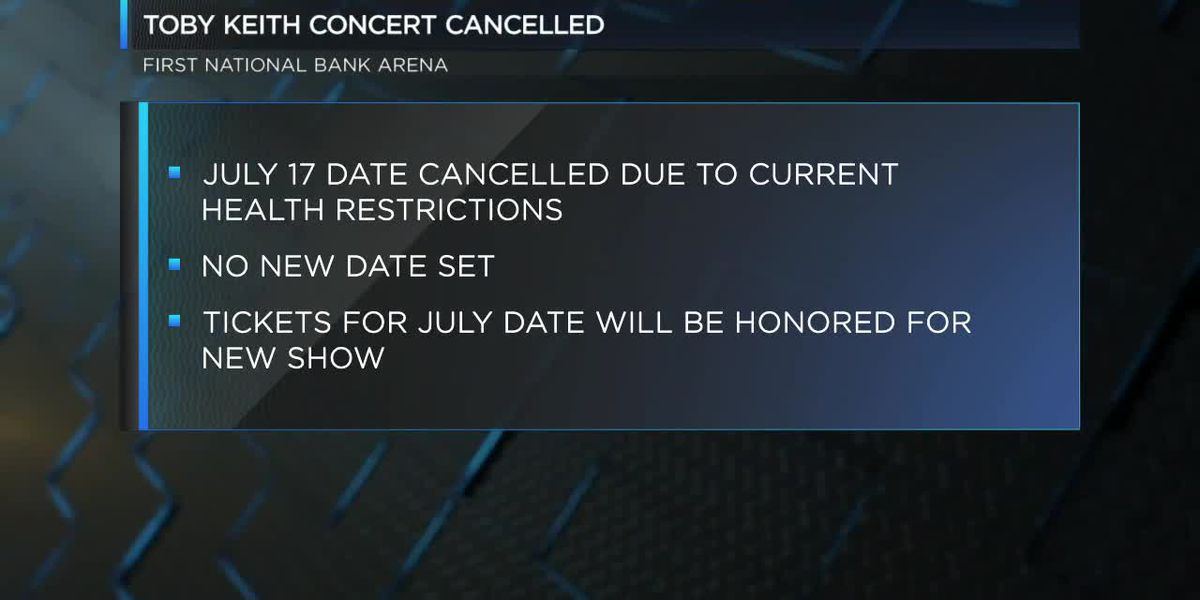 Toby Keith concert July 17 in Jonesboro postponed
