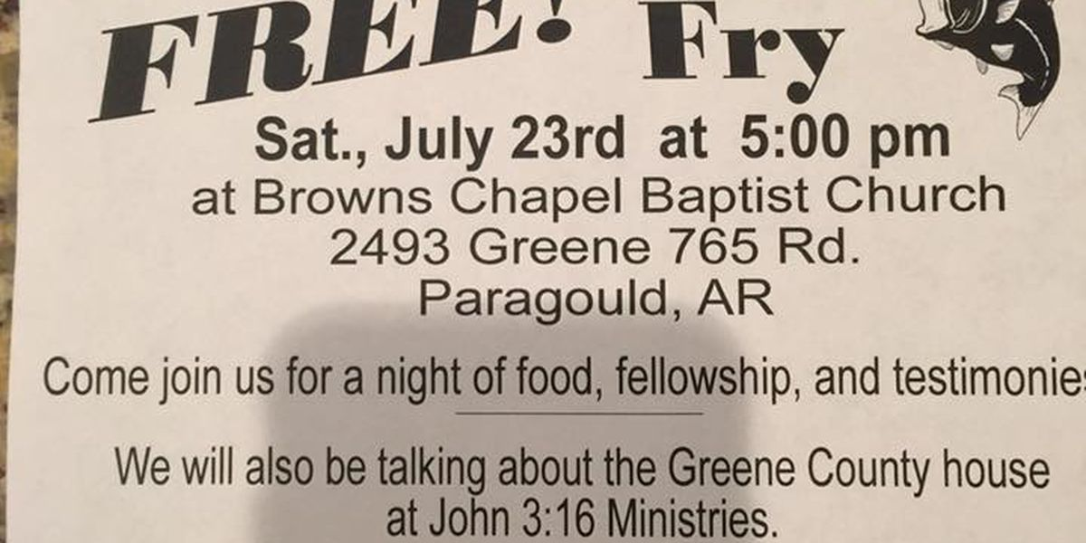 Free fish fry to share message of John 3:16 Ministries