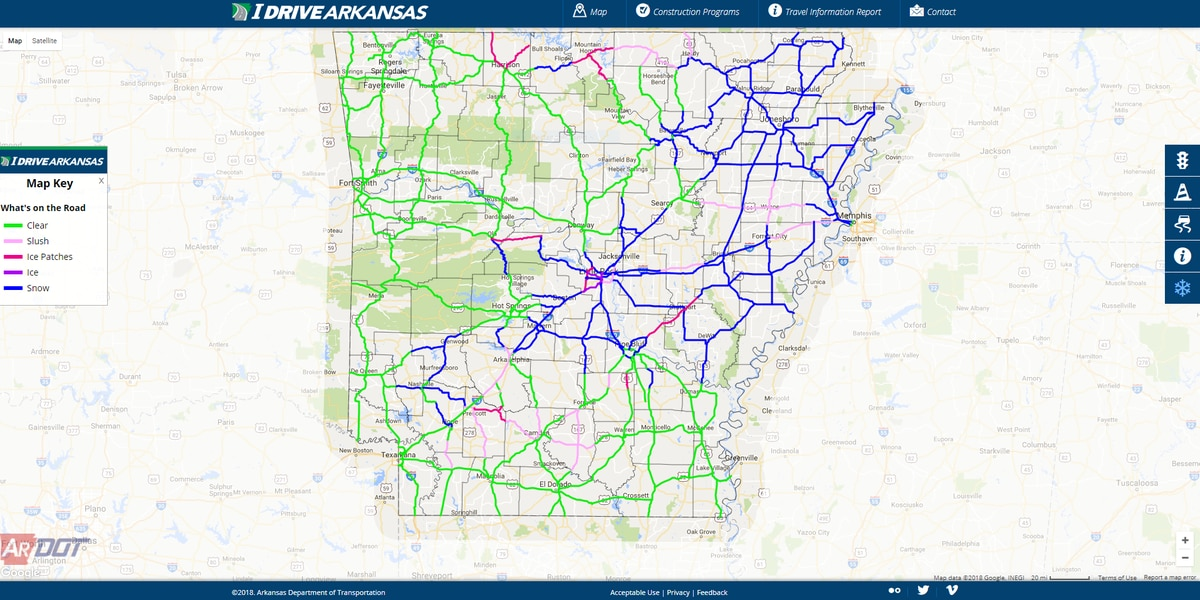 Roads becoming snow covered across Region 8