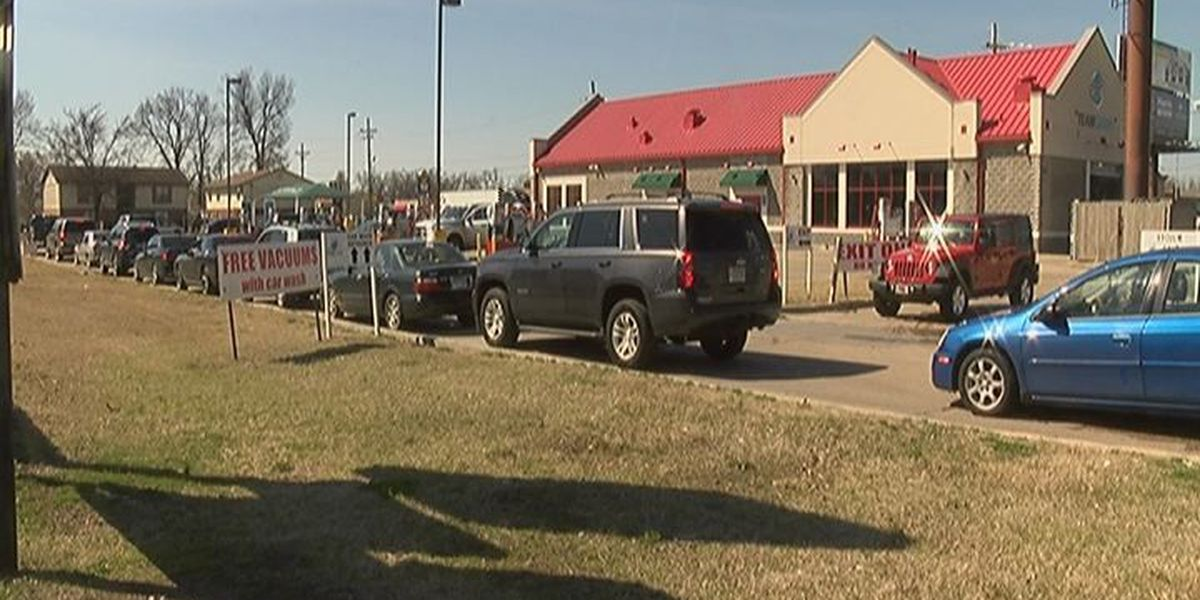 Spring temperatures brings business to car washes