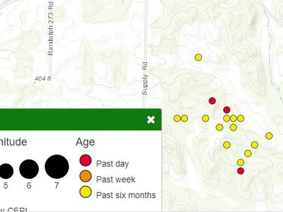 Rash of quakes continues in Randolph County