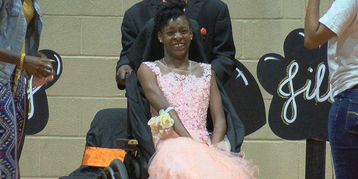 Special needs student joins homecoming court