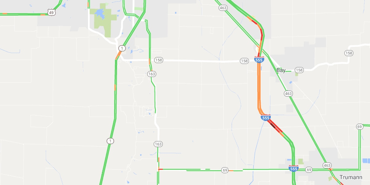 TRAFFIC ALERT: Crash reported on I-555 near Poinsett/Craighead County line
